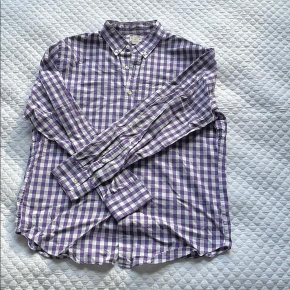 J. CREW purple gingham shirt JCREW checked J.CREW